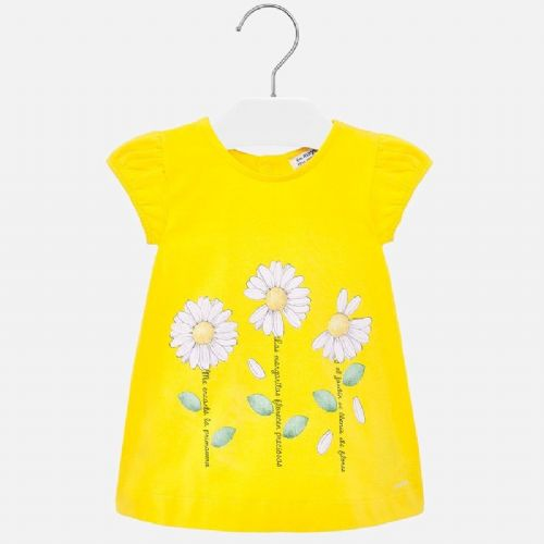 Lemon Dress With Daisy Print